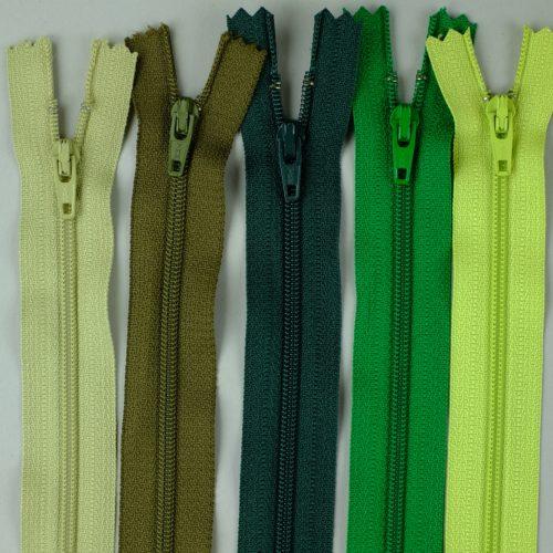 Groene japonritsen, YKK ritsen, groene rokritsen