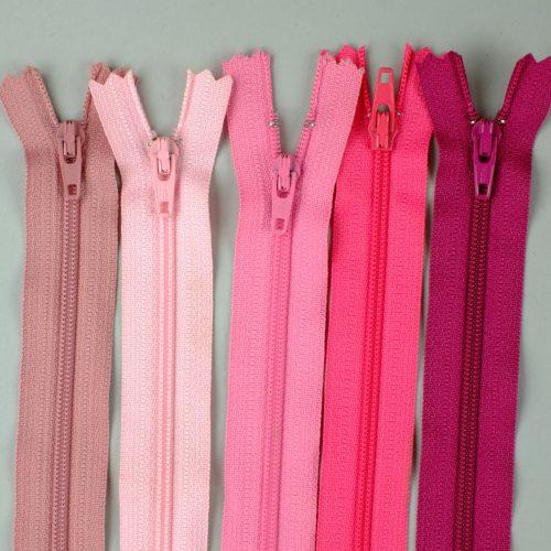 YKK rits, roze japonritsen, roze ritsen