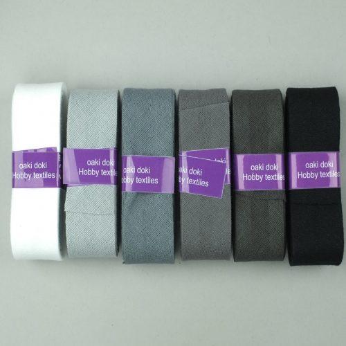 wit, zwart, grijs biasband