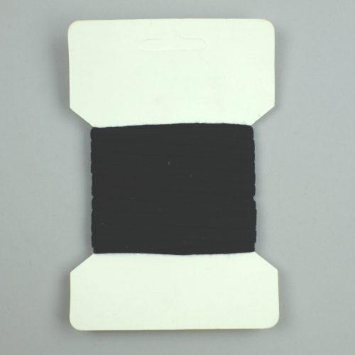 zwart veterband 6mm