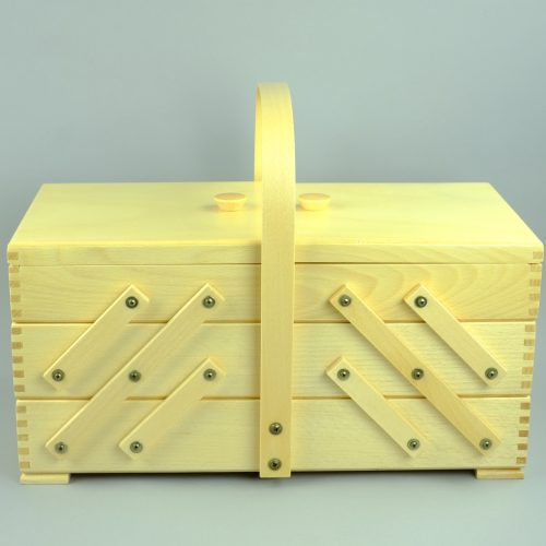 grote houten naaikist / naaidoos - seegers fournituren