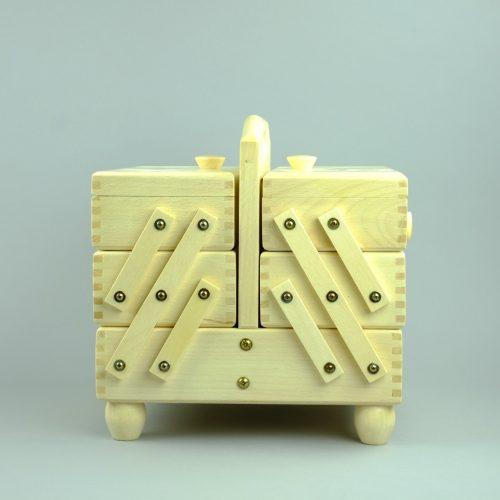houten naaikist / houten naaidoos - seegers fournituren