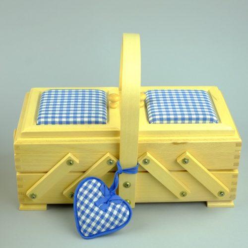 houten naaikist - houten naaidoos - seegers fournituren