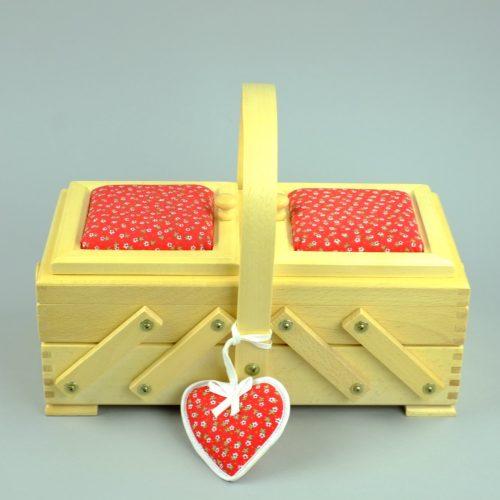 houten naaikist / houten naaidoos - seegers fourntiuren