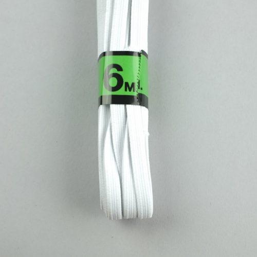 stevig wit elastiek 6mm breed