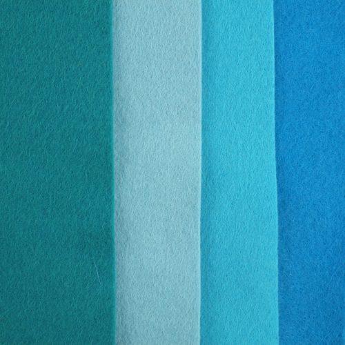 hobbyvilt, wolvilt, blauw wolvilt, turquoise hobbyvilt, zeegroen vilt