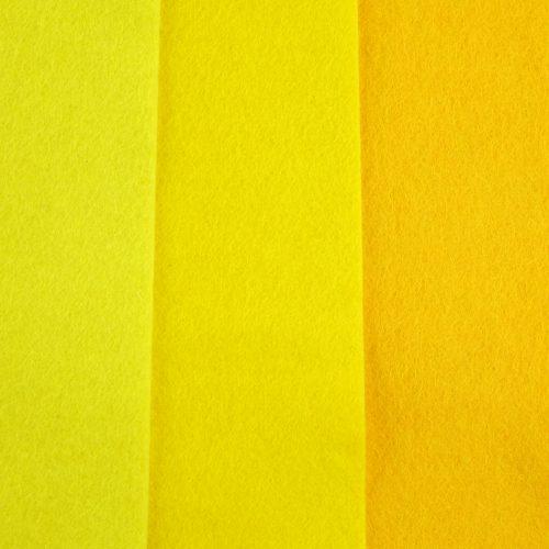 geel wolvilt, geel hobbyvilt seegers fournituren
