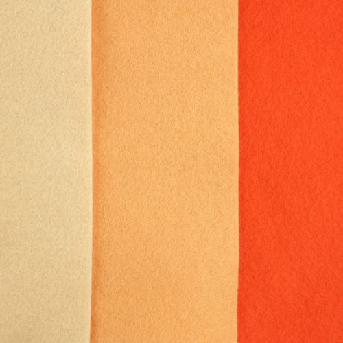 zalmroze wolvilt, oranje hobbyvilt seegers fournituren