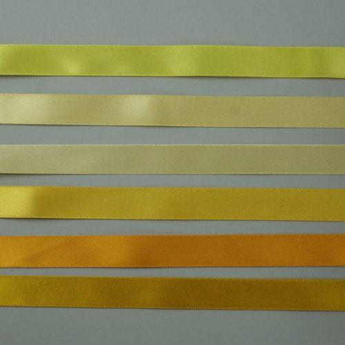 geel satijnlint - seegers fournituren