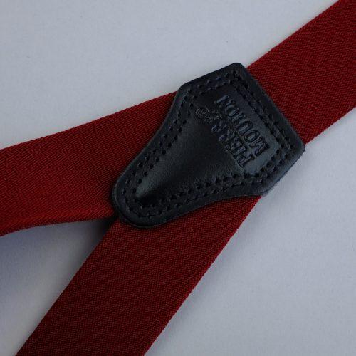 bordeauxrode 3-clips bretels