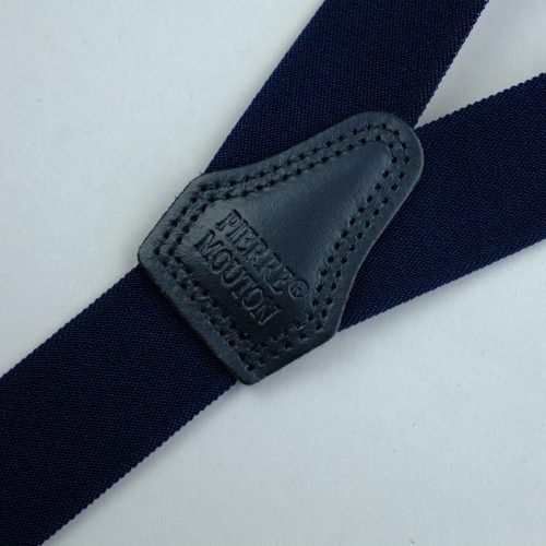 donkerblauwe 3-clips bretels