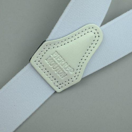 witte bretels met 3 clips
