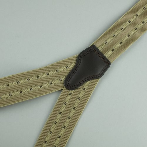 gestreepte beige 3-clips bretels