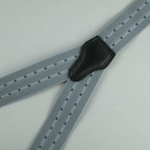grijze gestreepte 3-clips bretels