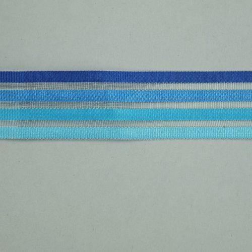 blauw gestreept lint
