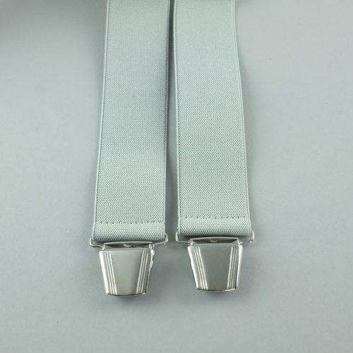 lichtgrijze 3-clips bretels