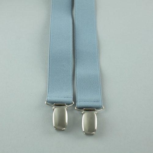 Grijze 4-clips bretels