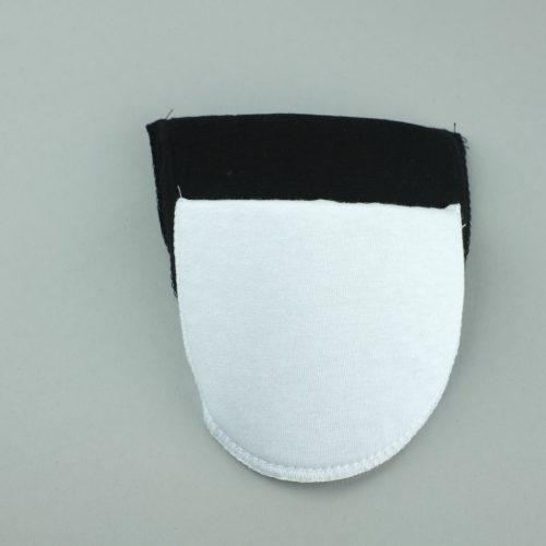 kleine rechte schoudervullingen zwart en wit