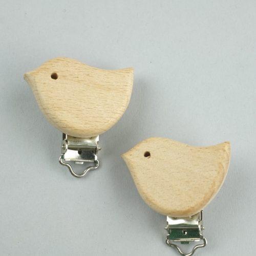 houten speenclips 'vogel' - seegers fournituren
